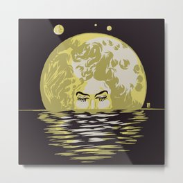 Miss Moonlight Metal Print