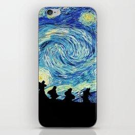 Friends in Starry Night iPhone Skin