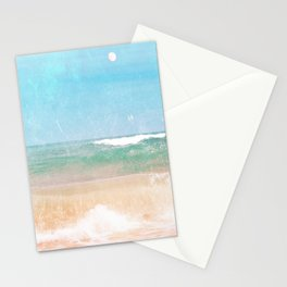 Sea and Moon Stationery Cards