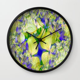 Green Violets Seamless Fractal - IA Wall Clock