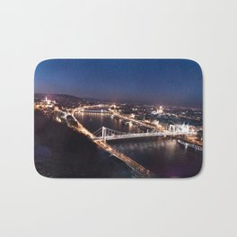 NIGHT TIME IN BUDAPEST Bath Mat