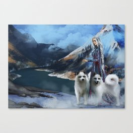 Snow Queen Snowflakes by K.M. Shea book cover Canvas Print