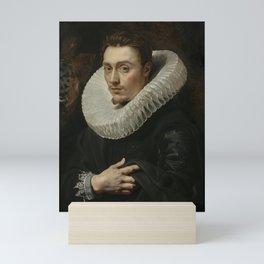 Man in Ruff Collar Mini Art Print