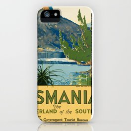 Vintage poster - Tasmania iPhone Case