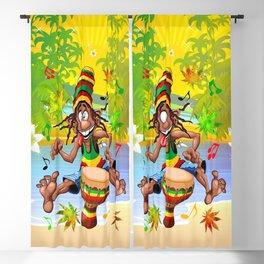 Rasta Bongo Musician funny cool character Blackout Curtain
