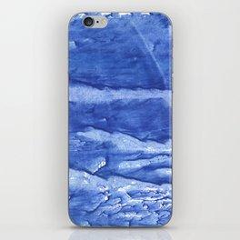 Steel blue vague watercolor painting iPhone Skin