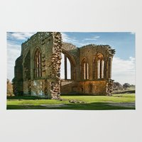 downton abbey Area & Throw Rugs featuring Egglestone Abbey by Best Light Images