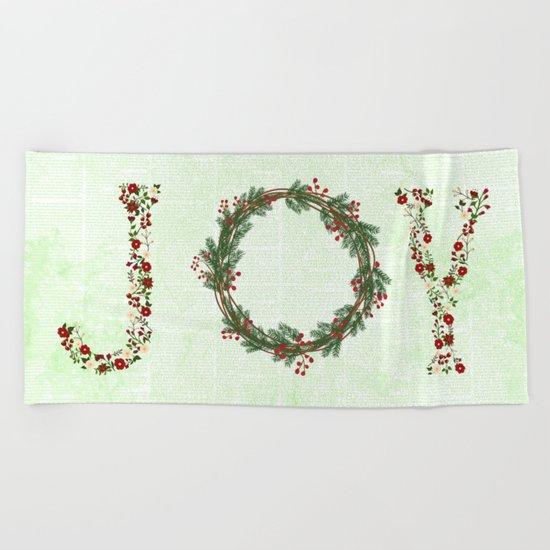 Joy Wreath #3 Beach Towel