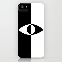 Eye - in a black has a white And in a white has a black iPhone Case