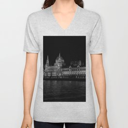 The Hungarian Parliament Building Unisex V-Neck