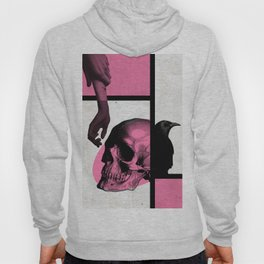 Death Mondrian in pink and black Hoody