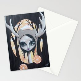 Deer Girl Taste The Sunshine Stationery Cards