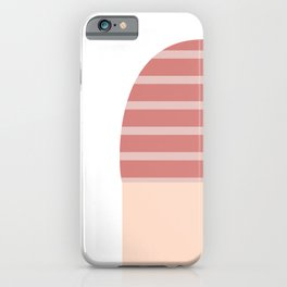 Pink & White T-Shirt iPhone Case