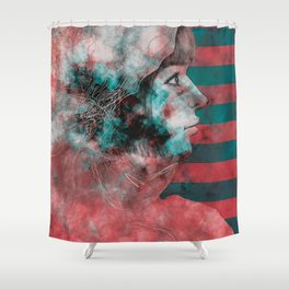 Wonder Into The Future Shower Curtain