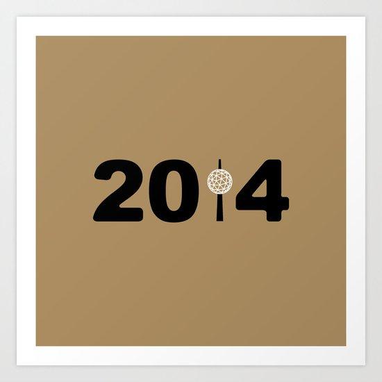 2014-NY-Gold Art Print