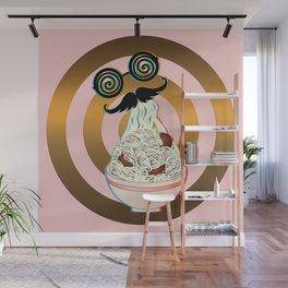 Mad ramen eater Wall Mural