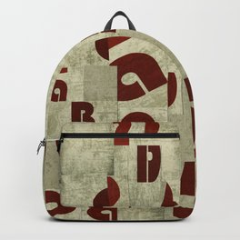 Absract Collage Backpack