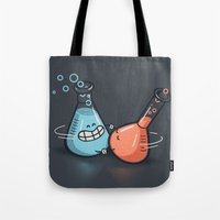 chemistry Tote Bags featuring Chemistry by Walmazan