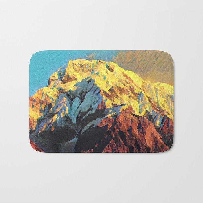 Snowy Mountain Bath Mat