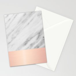 Real Italian Marble and Pink Stationery Cards