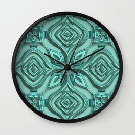 Metallic Engraved Ornament Wall Clock