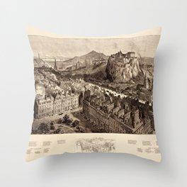 Edinburgh 1886 Throw Pillow