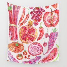 Harvest of Red - Neutral Wall Tapestry