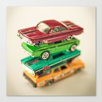 cars Canvas Prints featuring Cars by Carl Christensen