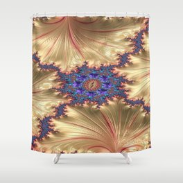 Geometric Landscape with Tender Exclusion Shower Curtain