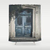 italian Shower Curtains featuring Italian Door II by Maria Heyens