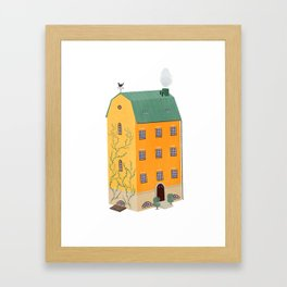 The Yellow House Framed Art Print