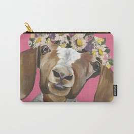 Flower Crown Goat, Goat Painting Carry-All Pouch