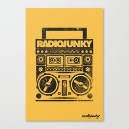 RADIO JUNKY BOOMBOX Canvas Print