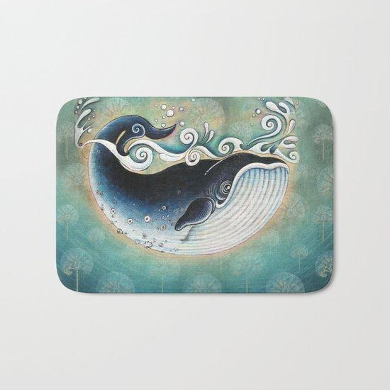 the Blue Whale Bath Mat