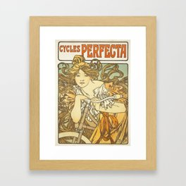 Bicycle Art - Cycles Perfecta Vintage Art Poster Framed Art Print
