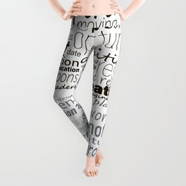 Head shape with business concept words. Leggings