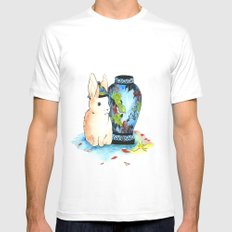 Lapin Chinoiserie Mens Fitted Tee White MEDIUM
