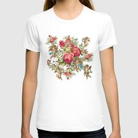 vintage flowers T-shirts featuring vintage  by mark ashkenazi