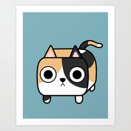 Cat Loaf - Calico Kitty Art Print