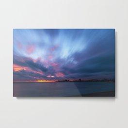Amazing Sunset at Anse Vata Bay in Noumea, New Caledonia Metal Print