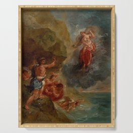 "Eugène Delacroix ""Winter from a series of the Four Seasons (Juno and Aeolus)"" Serving Tray"