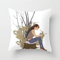 allison argent Throw Pillows featuring Allison Argent, Winter by strangehats