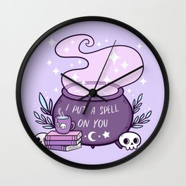 Witch Cauldron // Purple Wall Clock