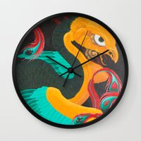 suits Wall Clocks featuring Phoenix Suits by SADOstyle