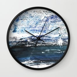 Gray-blue watercolor Wall Clock