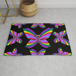Butterfly Psychedelic Rainbow Rug