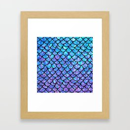 Purples & Blues Mermaid scales Framed Art Print