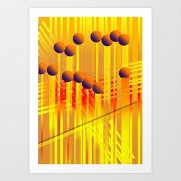 sıcak renkler Art Print
