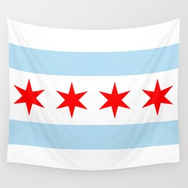 Flag of Chicago, Illinois Wall Tapestry