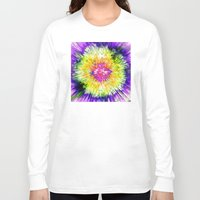 tie dye Long Sleeve T-shirts featuring Textured Retro Tie Dye by Phil Perkins